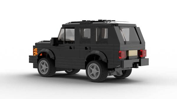 LEGO Range Rover Classic US model rear view