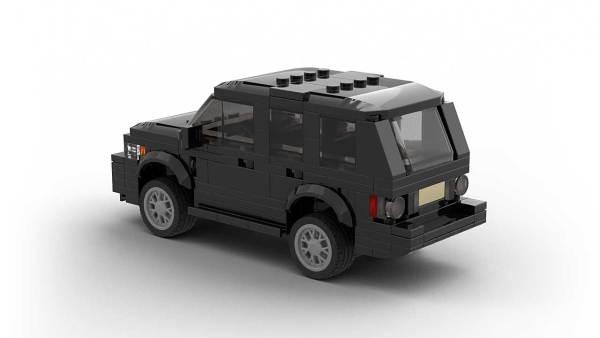 LEGO Range Rover Vogue model rear view