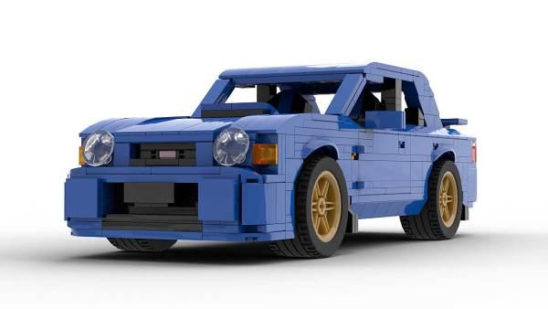 LEGO Creator Expert Subaru Impreza WRX 01 model front view