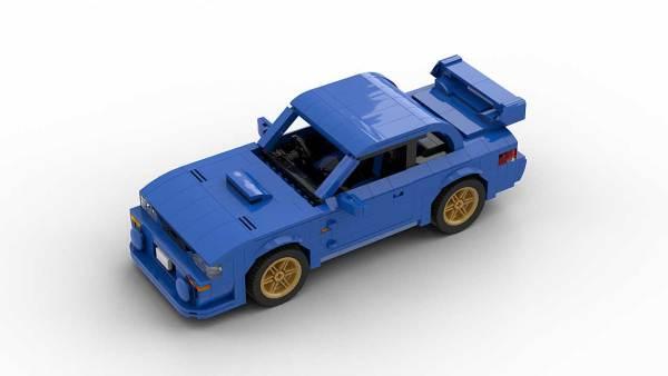 LEGO Subaru Impreza 22B model top view