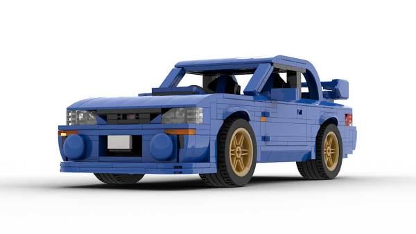 LEGO Subaru Impreza 22B MOC model front view