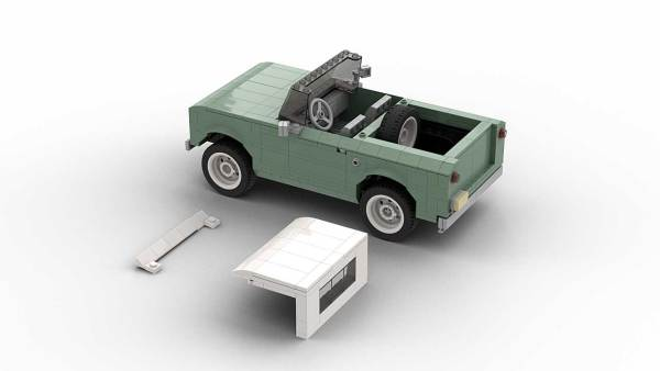 LEGO International Scout 80 model with removed roof