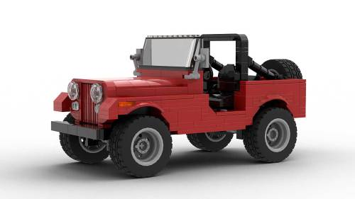 LEGO Jeep CJ7 model