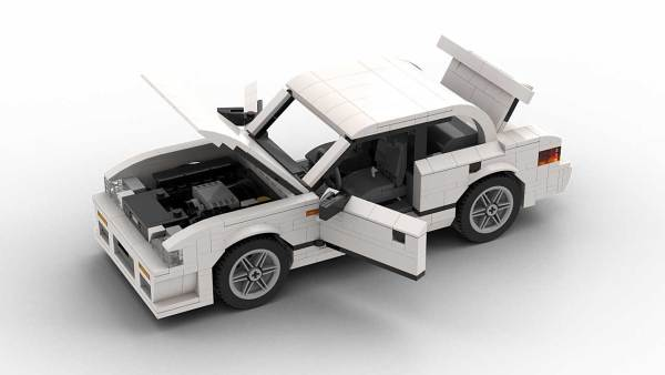 LEGO Subaru Impreza 98 model with opened doors
