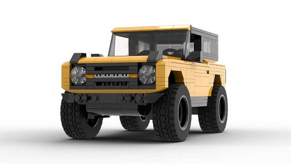 LEGO Ford Bronco 2021 model with hardtop front view
