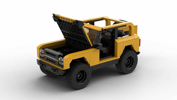 LEGO Ford Bronco 2021 model with open hood