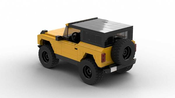 LEGO Ford Bronco 2021 model with roof rear view