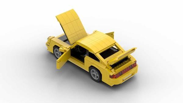 LEGO Porsche 993 Turbo model with opening doors