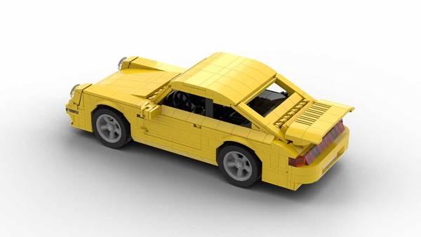 LEGO Porsche 993 Turbo model top rear view