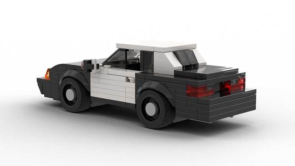 LEGO Ford Mustang SSP Police model rear view