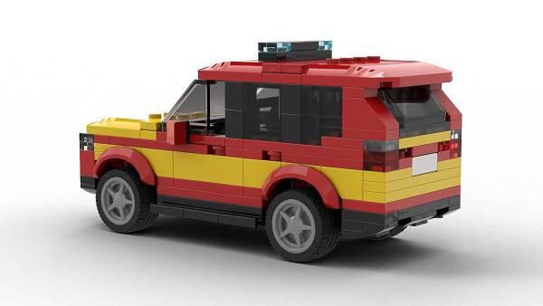 LEGO BMW X3 Fire Dep Model Rear View