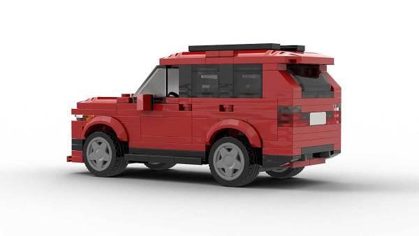 LEGO BMW X5 E53 48 Model Rear View