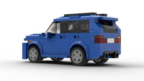 LEGO BMW X5 E53 Tuned Model Rear View