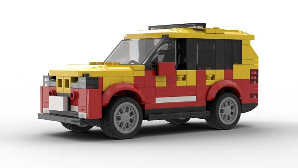 LEGO BMW X5 E70 Fire Dep model