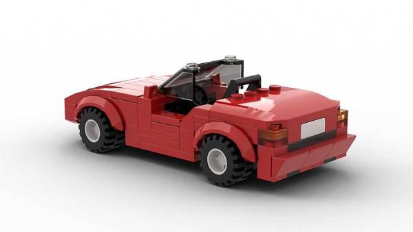 LEGO BMW Z1 Model Rear View