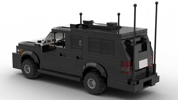 LEGO Chevrolet Suburban Secret Service Model Rear