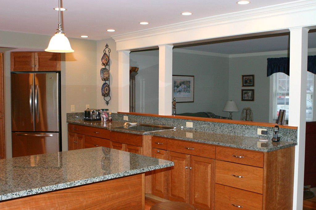 hope kitchen cabinets island with breakfast bar custom kitchen, south deerfield, ma | renaissance builders