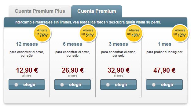 App edarling - prix et tarif abonnement