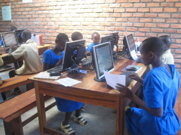 Students in an ICT lesson