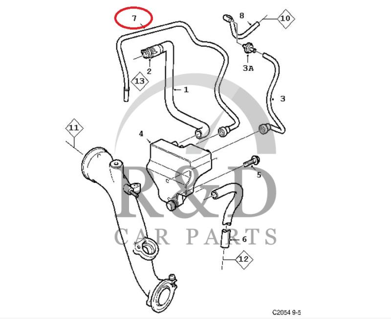 Hose Crankcase Ventilation Saab 9-3v1/9-5 B205/B235, 5961610