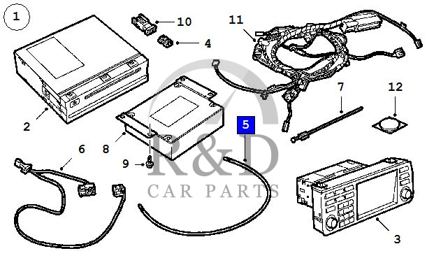 Optical Cable Navigation System Saab 9-3, 12794305