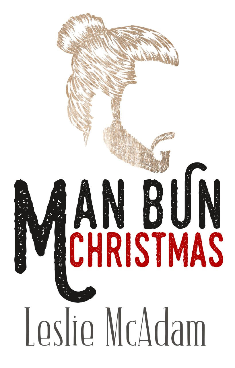 Man Bun Christmas by Leslie McAdam | Cover Design by Render Compose