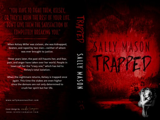 Trapped (paperback) by Sally Mason   Cover Design by Render Compose