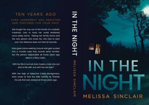 In the Night (paperback) by Melissa Sinclair   Cover Design by Render Compose