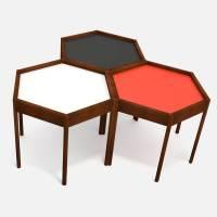 Mid-Century Modern Hexagon Side Table 3D Model