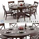 Pottery Barn Table Set 3d Model
