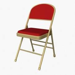 Folding Chair With Cushion Victorian Velvet 3d Model