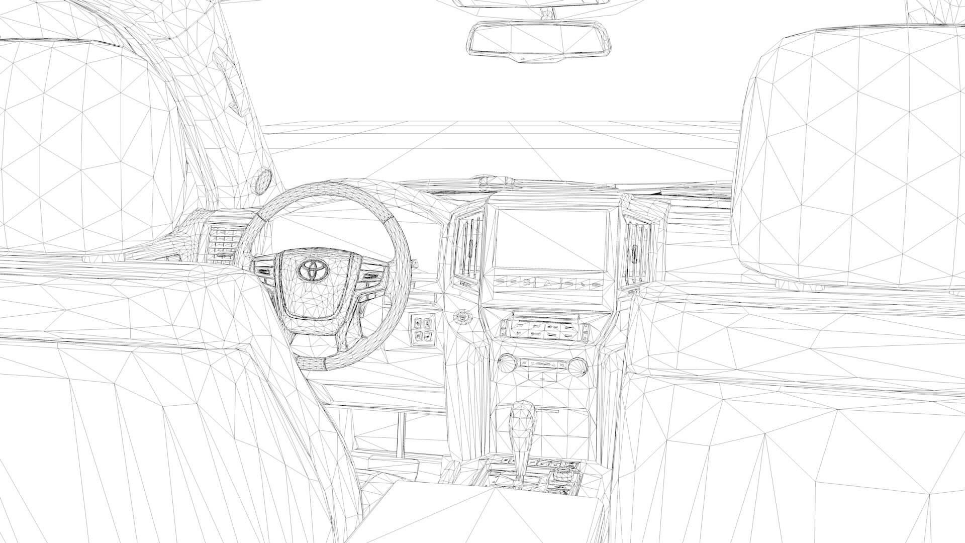 2021 Toyota Land Cruiser Tuning VXR V8 3D Model