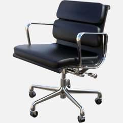 Aluminum Management Chair Plastic Rail Eames Group Soft Pad Free 3d Model