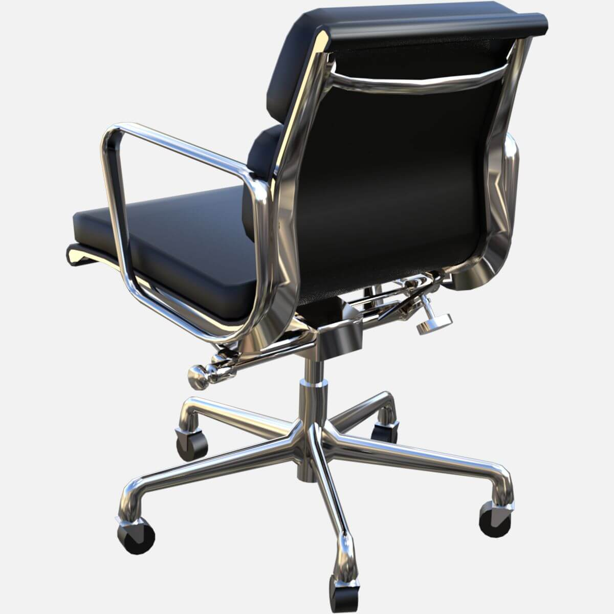 eames aluminum group management chair wood folding soft pad free 3d model