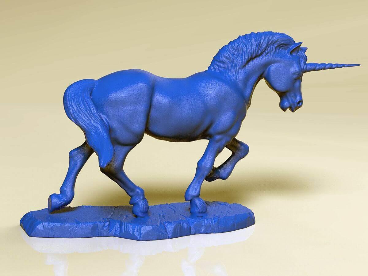 unicorn sculpture print ready