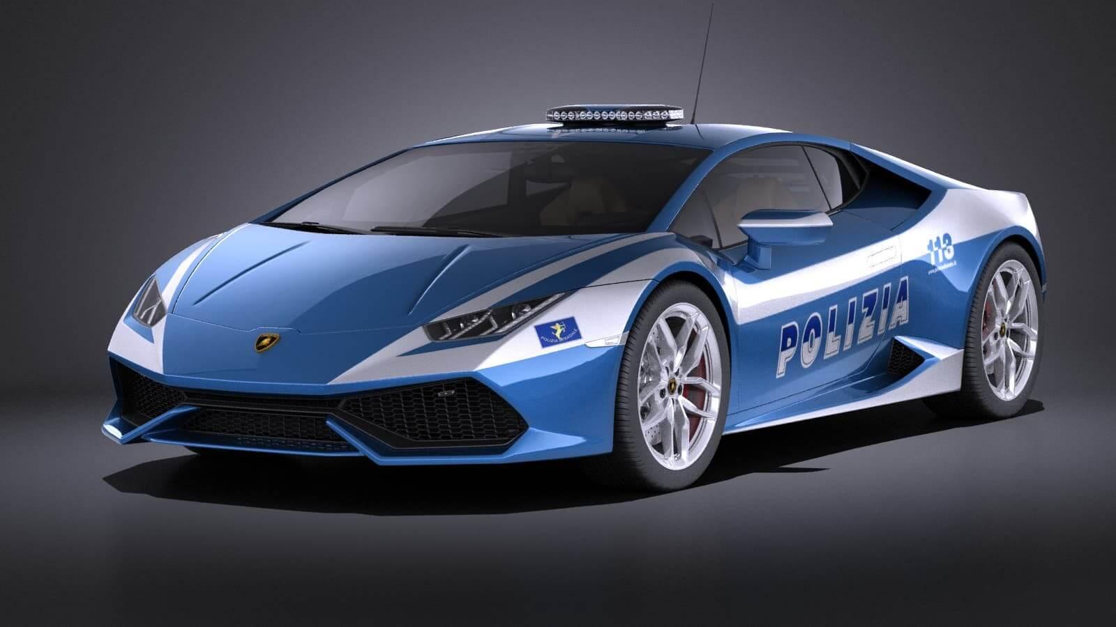 Lamborghini Huracan 2016 Italian Polizia Vray 3d Model