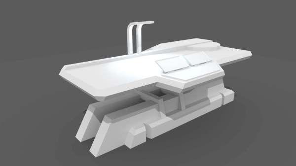 Sci Fi Repair Table 3d Model