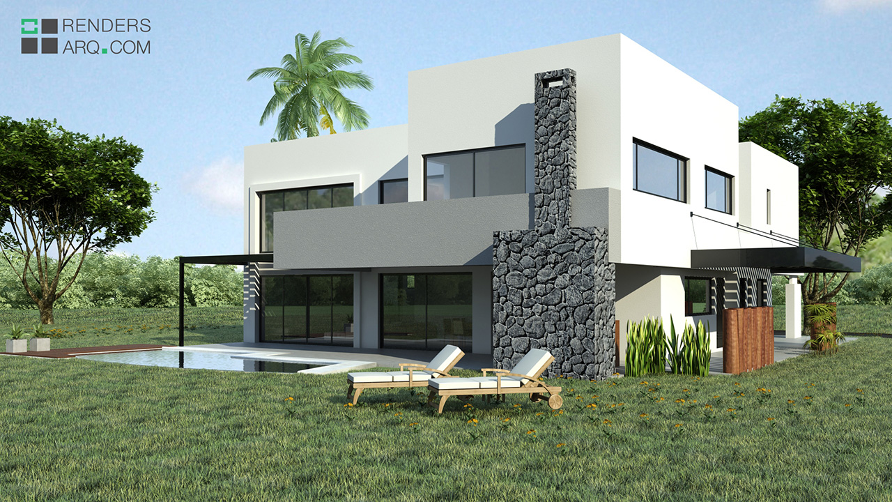Casa Country Renders Arquitectura