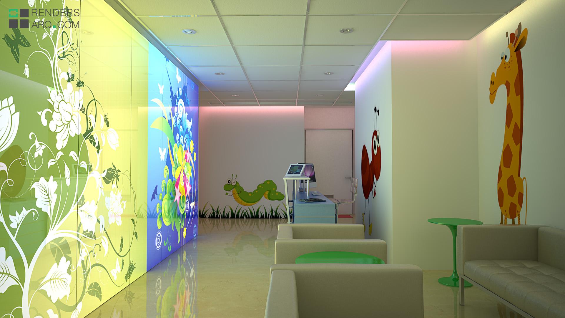 Hospital de nios  Renders Arquitectura
