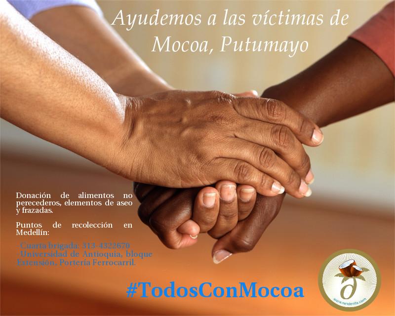 Ayuda a las víctimas de mocoa, putumayo