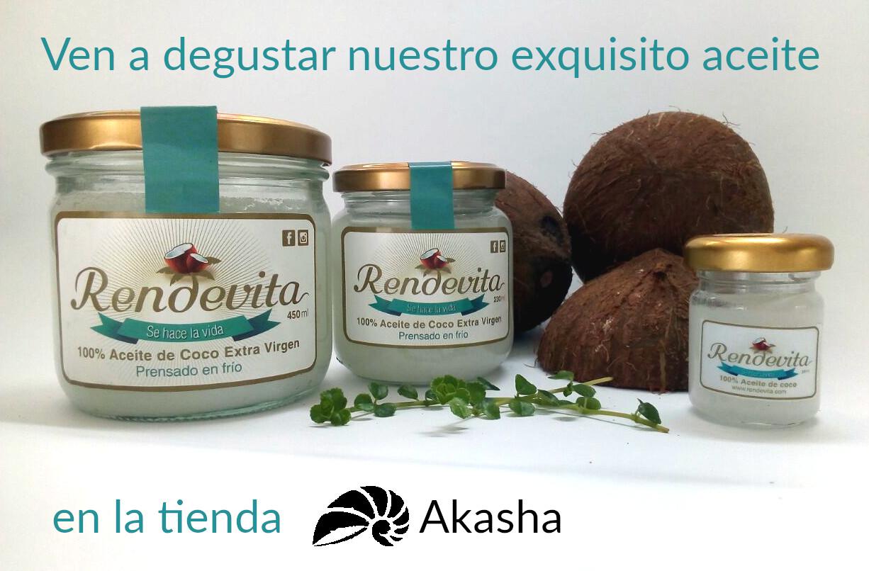 Invitación a degustación de aceite Rendevita en tienda Akasha