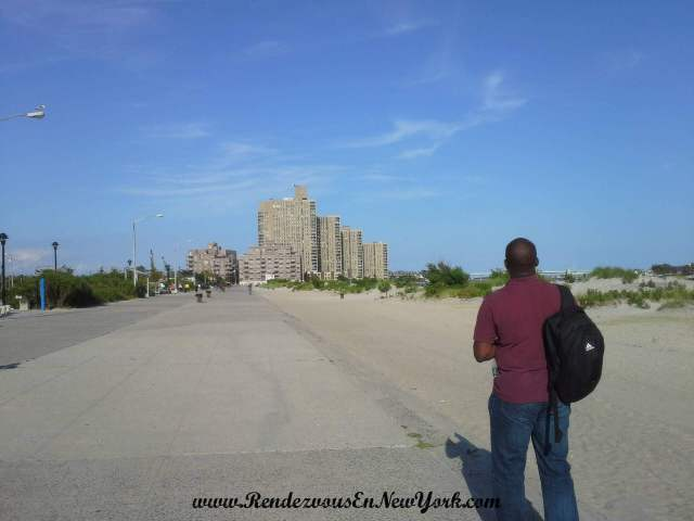 Brother made a cameo at the beach in Far Rockaway, NYC