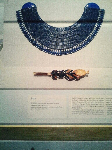 Broad collar during the reign of Tutankhamen at the Brooklyn Museum