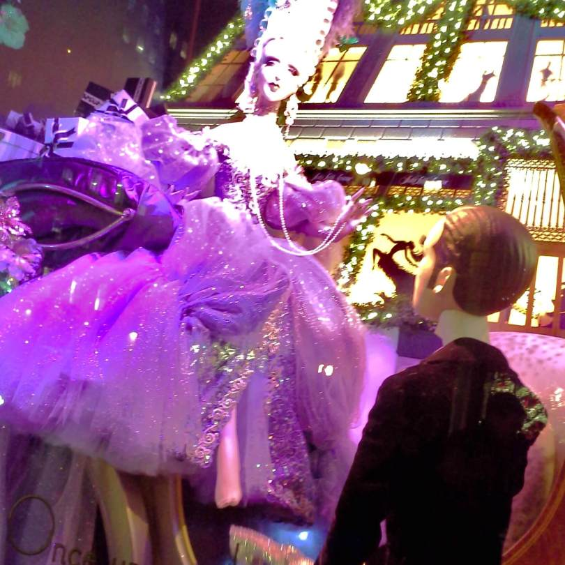 """Holiday windows, """"Once upon a time in New York, Cinderella tried on a shoe"""""""