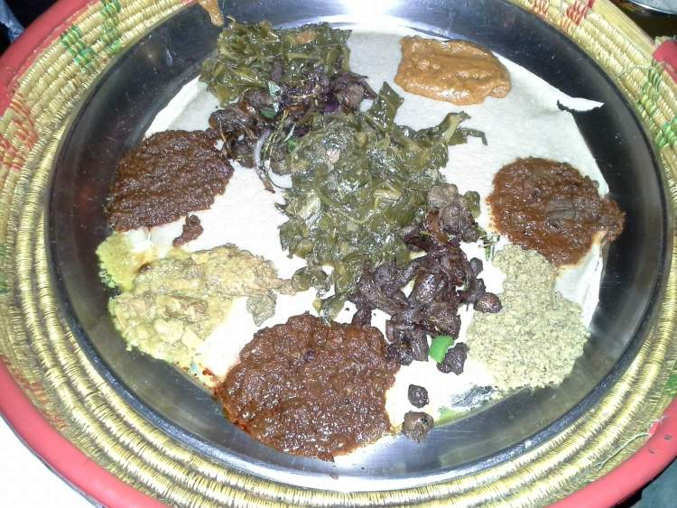 Ethiopian dinner at the Queen of Sheba