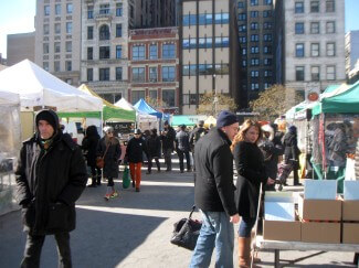 Union Square Greenmarket Stalls