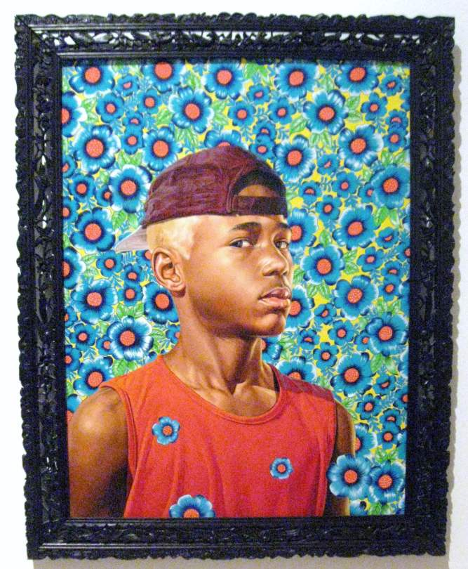 "Randerson Ramualdo Cordeiro, oil on canvas, from the series , ""The World Stage: Brazil"" #KehindeWiley"