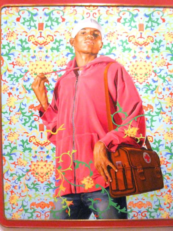 Support the Rural Population and Serve 500 Million Peasants, oil and enamel on canvas, #KehindeWiley