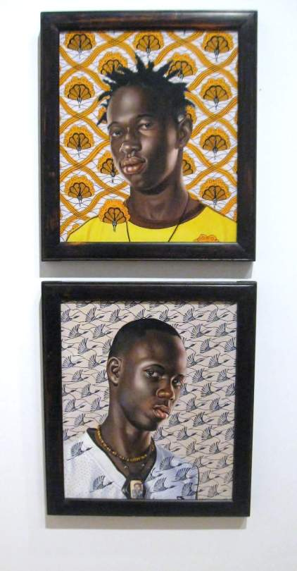 "Mame Ngagne(top) and Ibrahima Sacko (bottom) oil on canvas from ""The World Stage Series :Africa Lagos Dakar"""