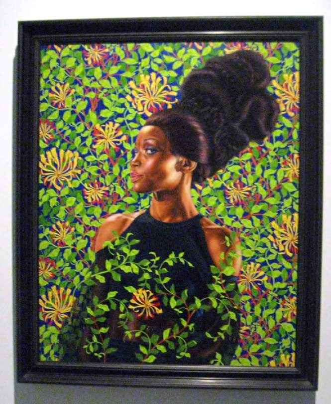 "Shantavia Beale II, oil on canvas, from the series , ""An Economy of Grace"" #KehindeWiley"